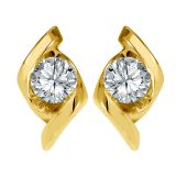 Diamond Earring In Yellow Gold - SAN20