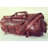 Real Genuine Leather Travel Bag Traditionally Handmade(DR003AC)