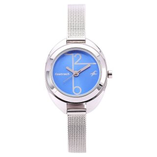 Fastrack Silver Strap Analog Watch For Women-6125SM01