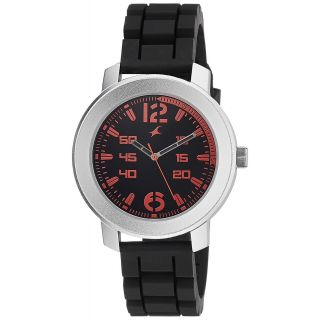 Fastrack Black Strap Analog Watch For Men-3121SP02