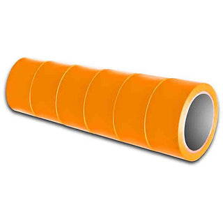 Colored BOPP Adhesive Tapes - ORANGE - Pack of 6