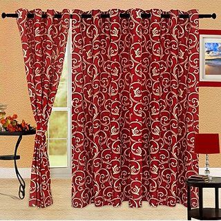 Story@Home Maroon 1 pc Door curtain-7 feet(DTA1202-S)