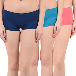 Chileelife Sports Shorts Combo - Pack Of 3 (Light Blue,Blue,Red)