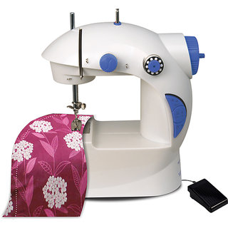 4 in 1 Mini Sewing Machine with Foot Pedal and Adapter