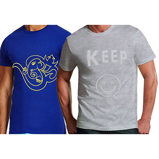 Pack Of 2 Printed Round Neck Fancy Tshirts