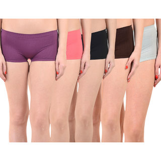 Chileelife Sports Shorts Combo - Pack Of 5 (Purple,Red,Black,Brown,Blue)