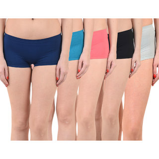 Chileelife Sports Shorts Combo - Pack Of 5 (Light Blue,Blue,Black,Red,Blue)