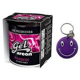 Areon Car Air Home, Gel(Perfume Freshener)~Passion With Free Smiley Key Chain.