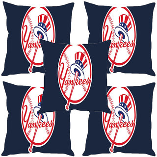 Sleep NatureS Hat Printed Cushion Covers Set Of Five