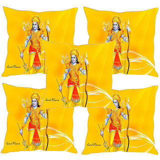 Sleep NatureS God Printed Cushion Covers Set Of Five