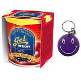 Areon Car Air Home Office Gel(Perfume Freshener)Apple With Free Smiley Key Chain