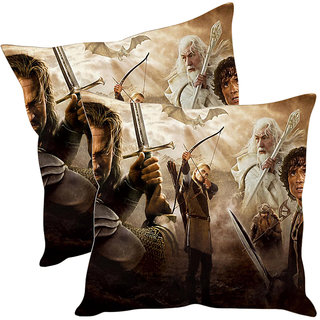 Sleep NatureS Warrior Printed Cushion Covers Pack Of 2