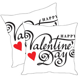 Sleep NatureS Happy Valentine Day Printed Cushion Covers Pack Of 2