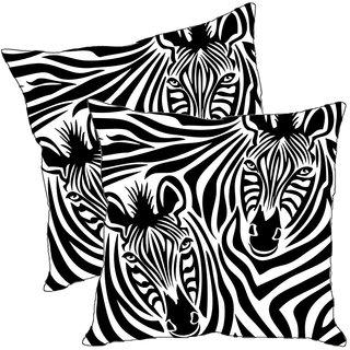 Sleep NatureS Zebra Printed Cushion Covers Pack Of 2