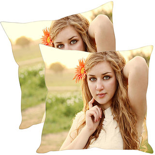 Sleep NatureS Lady Printed Cushion Covers Pack Of 2