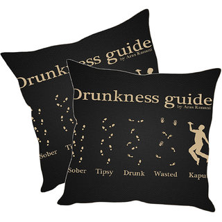 Sleep NatureS Quotes Printed Cushion Covers Pack Of 2