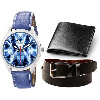 Jack Klein Elegant Analog Wrist Watch With Wallet And Belt