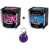 Combo Of Areon Car Air Gel Perfume Freshener Passion & Wish Free SmileyKey Chain