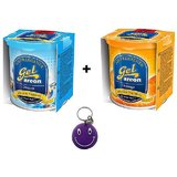 Combo Of Areon Car Air Gel Perfume Freshener Dream&Orange Free Smiley Key Chain.