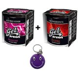 Combo Of Areon Car Air Gel Perfume Freshener Passion&Desire Free SmileyKey Chain