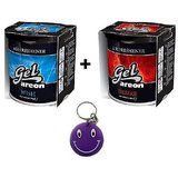Combo Of Areon Car Air Gel Perfume Freshener Wish & Desire Free Smiley Key Chain