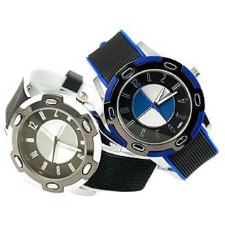 Designer Silicone Sports Quartz Analog Watch Unisex (Color may vary)