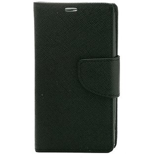 YGS Premium Diary Wallet Mobile Case Cover For Micromax Canvas Spark Q380-Black