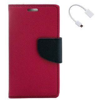 YGS Premium Diary Wallet Case Cover For LeTv Le(Eco) 1s-Pink With Micro OTG