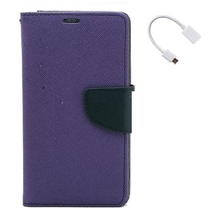 YGS Premium Diary Wallet Case Cover For LeTv Le(Eco) 1s-Purple With Micro OTG