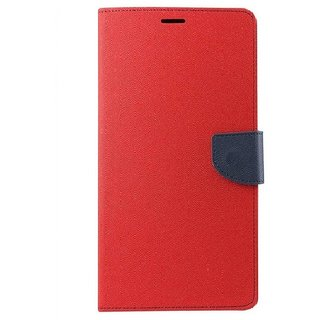 YGS Premium Diary Wallet Mobile Case Cover For Micromax Canvas Spark Q380-Red