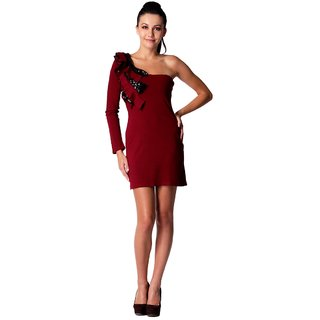 Maroon Short Party Dress