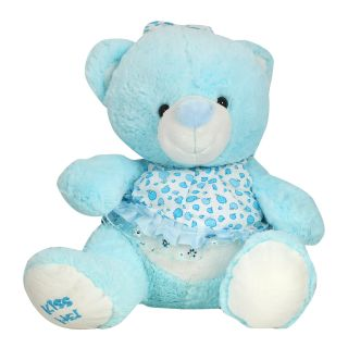 K.S Cute Blue Teddy Bear for Kids and Women