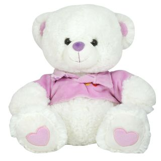 K.S Lovely White Teddy Bear for Kids and Women