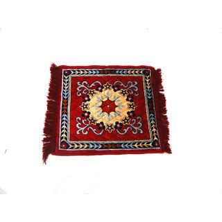Peponi Multicolor Velvet Area Rug(53.34 cm X 60.96 cm)