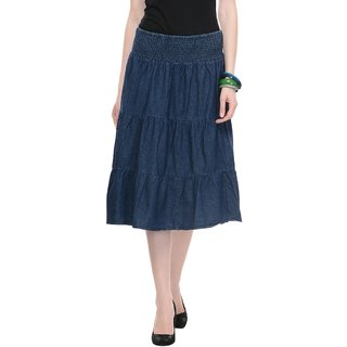 Ruhaans Women Knee Length Skirts