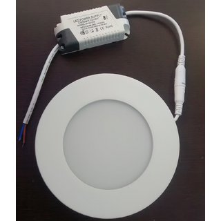 SUNPAC 12 Watt LED Round Panel White CeilingPOPFalse Ceiling Panel Light