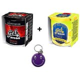Combo Of Areon Car Air Gel Perfume Freshener Lemon&Desire Free Smiley Key Chain.
