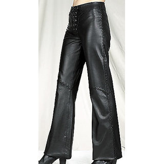 100% GENUINE LEATHER LADIES TROUSER NEW WOMEN'S LEATHER PANTS JL392