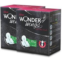 Wonder Wings Ultra Silky Touch  L Sanitary Napkins Combo of 2