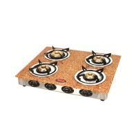 Padmini 4 Burner Gas Stove Cs-4Gta Garnet Brown With Auto Ignition