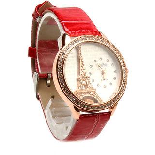 New Eiffel Tower Design Trendy Women Wrist Watch with Beautiful Dial