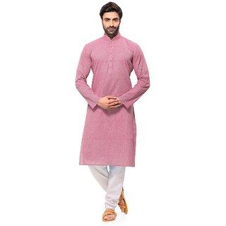 RG Designers Handloom Pink Kurta for men