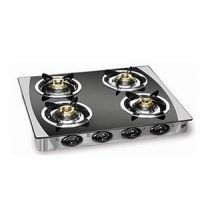 Padmini 4 Burner Gas Stove Cs-4Gta Crystal Black With Auto Ignition