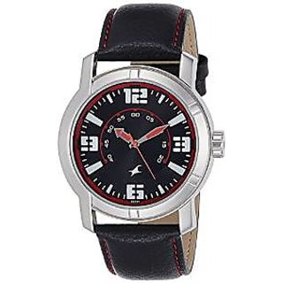 Fastrack Analog Black Dial Mens Watch - 3021SL04