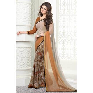 Hanuman Fabrics Printed Bollywood saree with blouse piece