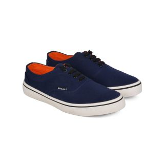 Wega Life VIOS Blue/Orange Canvas Casual Shoes