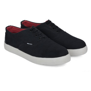 Wega Life VIOS Black/Red Canvas Casual Shoes