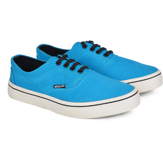 Wega Life VIOS SkyBlue-Black Canvas Casual Shoes