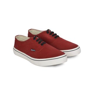Wega Life VIOS Maroon/Black Canvas Casual Shoes