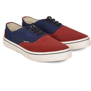 Wega Life TUCSON Maroon/Blue Canvas Casual Shoes